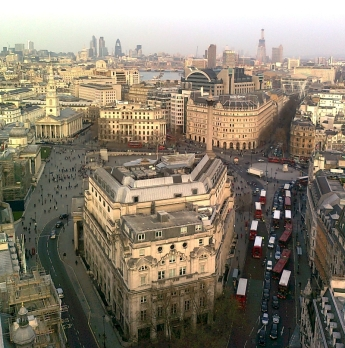 Central London from New Zealand House 18th story