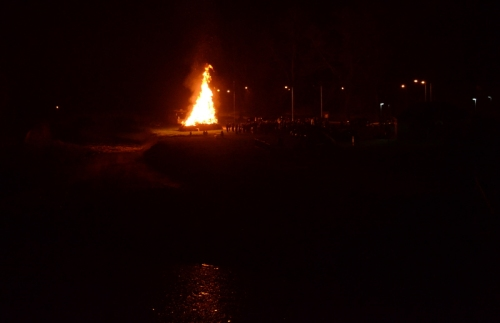 bonfire from the bridge