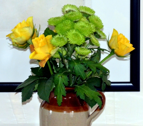flowers in a vase 4