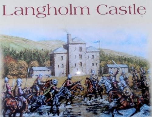 Langholm castle signboard
