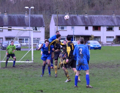 A goalmouth incident