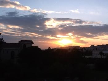 sunset in Limassol