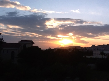 sunset in Limassol