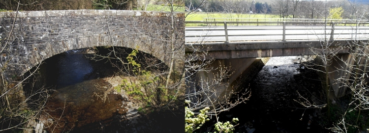 Old and new bridges at Ewes