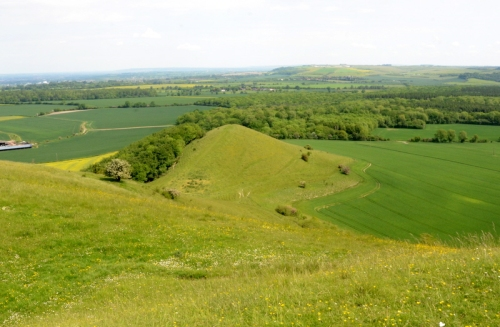 Looking over Little Cley Hill
