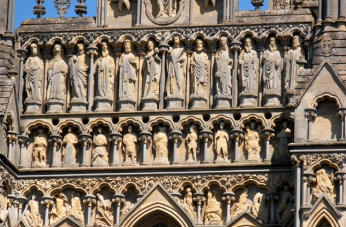 carvings Wells cathedral