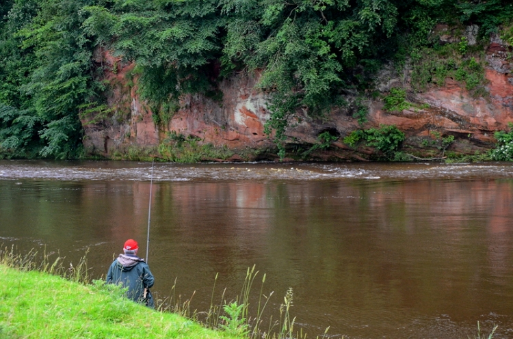 A fisherman tries his luck at the Dead Neuk