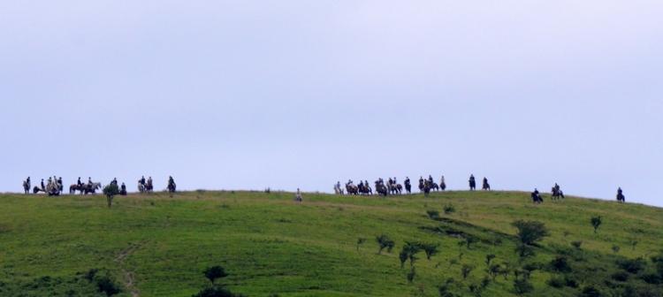The horsemen gather