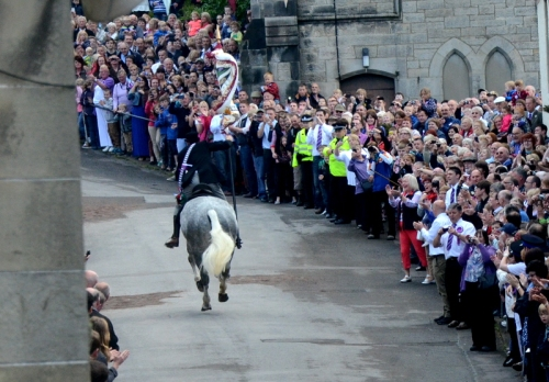 The cornet going up the Kirk Wynd