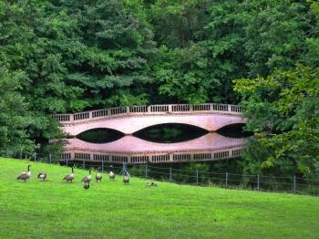 The false bridge and reflection on the lake at Kenwood