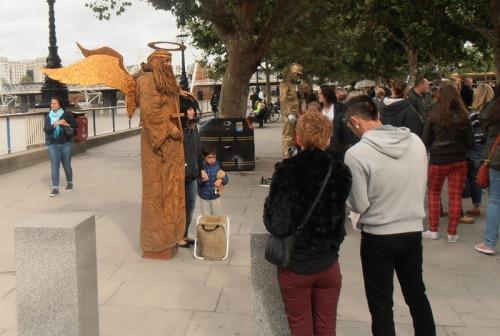 human statue