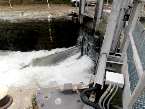 water entering lock