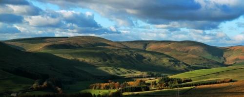 Dappled hills