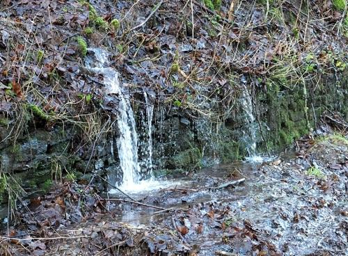 watery wall