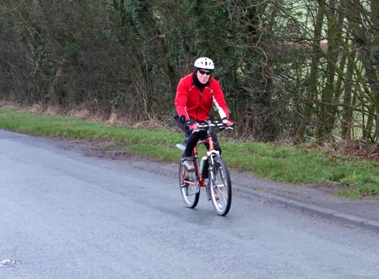 passing cyclist