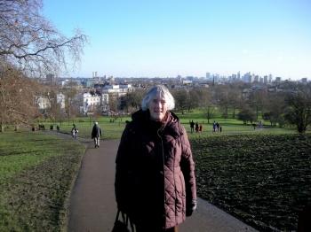 Susan climbing Primrose Hill