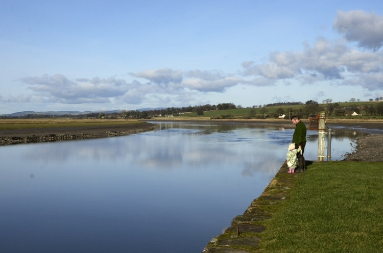 The Nith: looking upriver