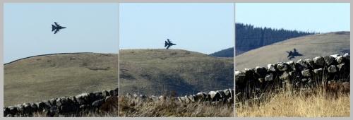 low flying jet