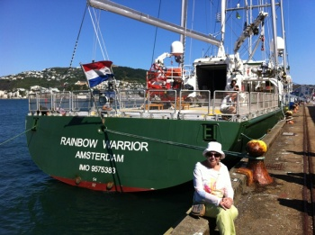 Rainbow Warrior III at dockside