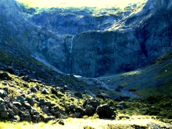 The Glacier at the Homer Tunnel