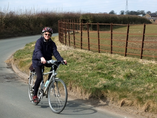 Mrs Tootlepedal pedalling