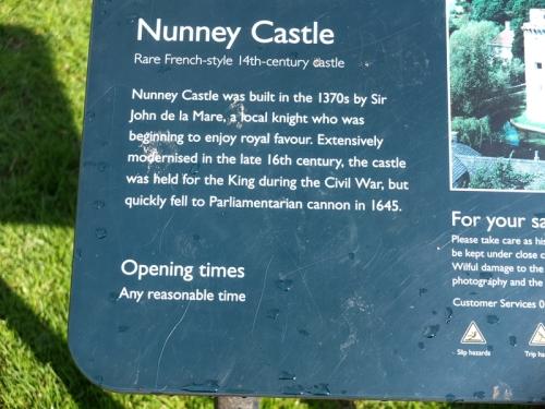 Nunney castle notice