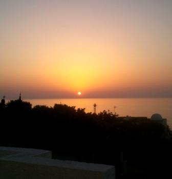 sunset at Mojacar