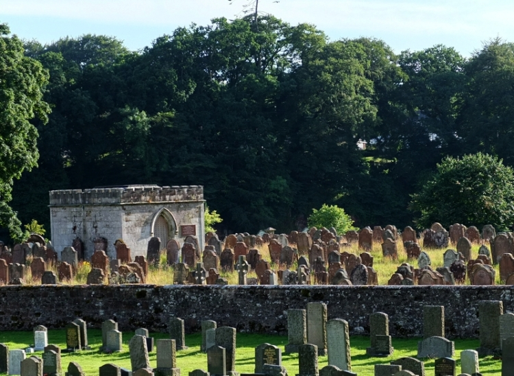 grave yard at Canonbie