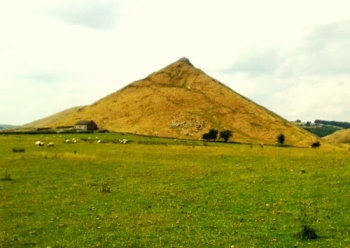 Thorpe Cloud, looks pyramidical from the south