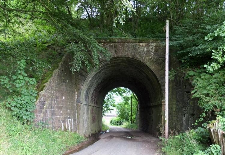 road below rowanburn railway