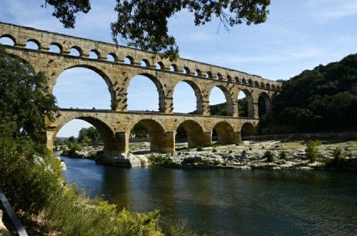 Day five: The Roman aqueduct at Pont du Gard