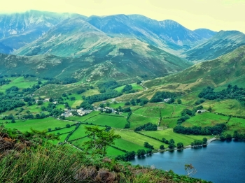Buttermere village came into view