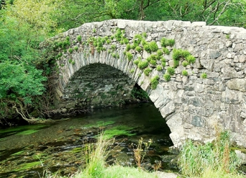 Leaving Buttermere, I headed over an ancient bridge