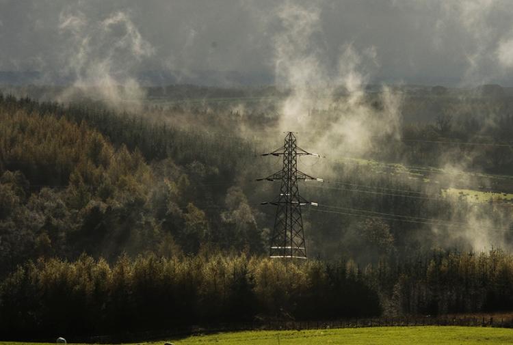 foggy pylon
