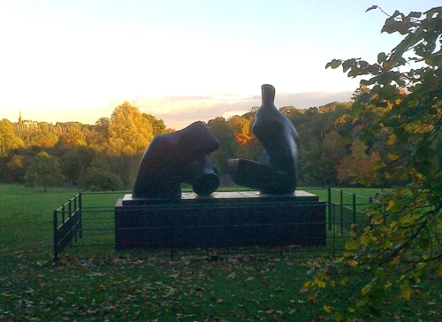 Henry Moore two piece reclining figure, Kenwood