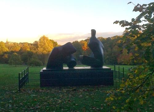 Henry Moore two piece reclining figure, Kenwood