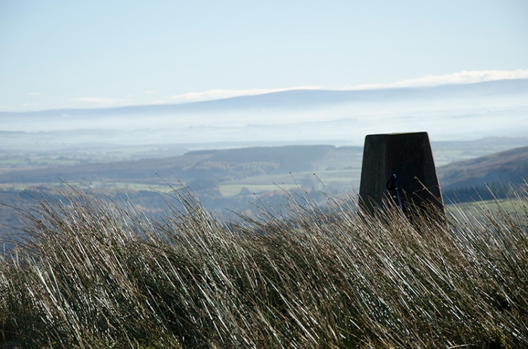 mist and trig point