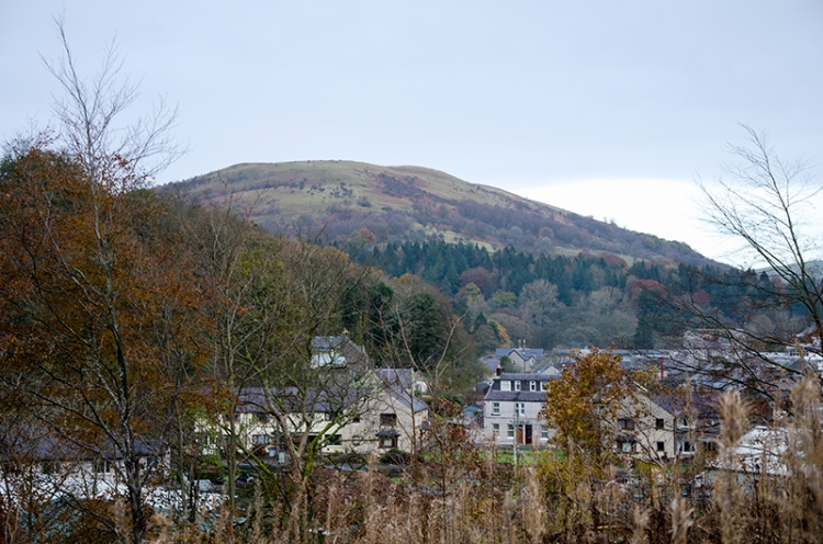 view of lasngholm and castle hill from gaskells