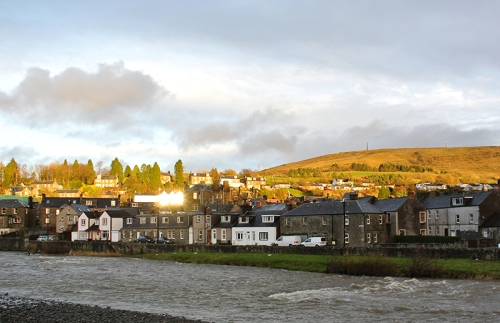 Langholm in evening sun