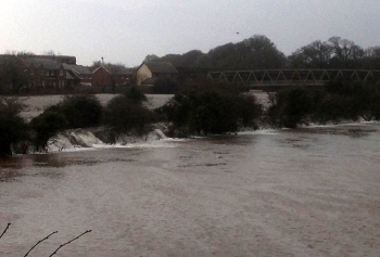 Annan in flood