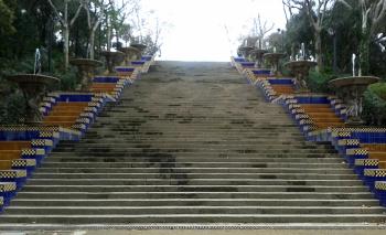 Barcelona Museum Steps
