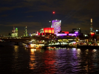 The South Bank at night
