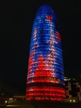 Barcelona Gherkin At Night