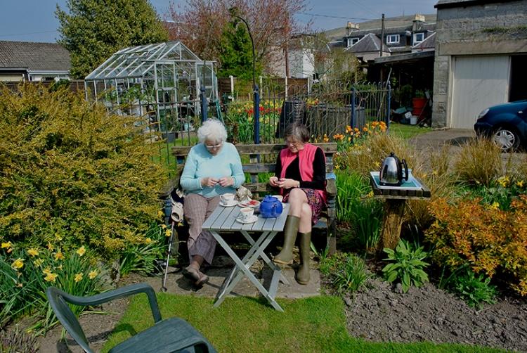 Jean in the garden