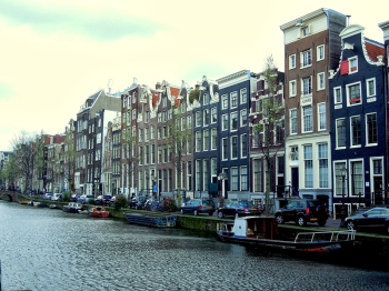 Amsterdam is a city of canals. This is a grand one, the Herrengracht