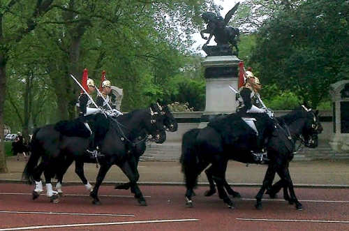 Horseguards in The Mall