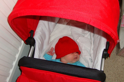 Matilda in pram