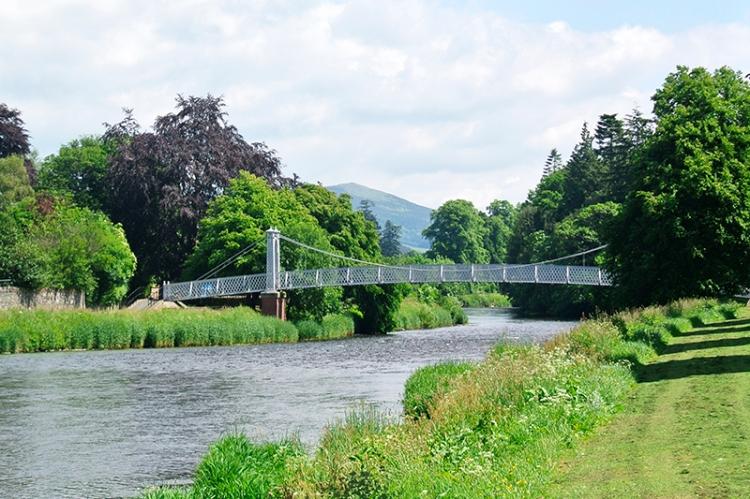 Tweed bridge at peebles