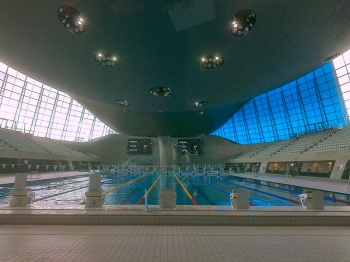 The Olympic swimming pool in the Olympic Park