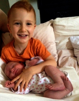 Baby with her Brother Jamie_2_22072014